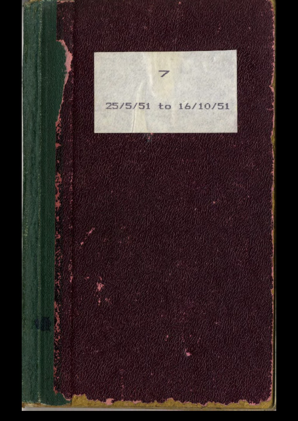 Article: Lenaerts Notebook 7 (25 May - 16 Oct 1951)
