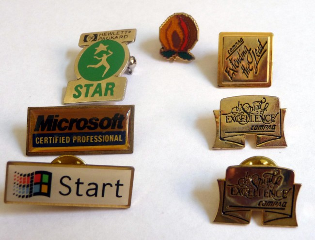 Scan of Document: Pin Badges