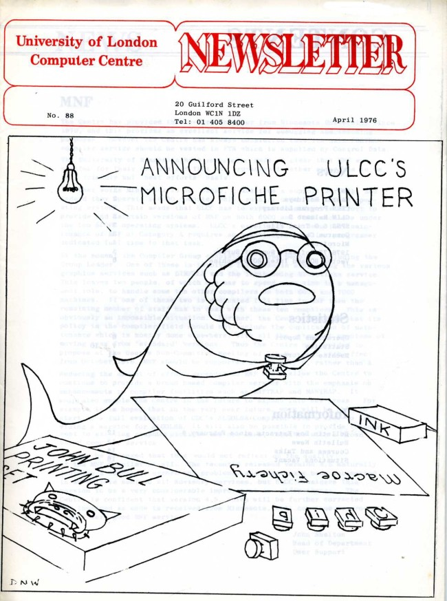 Scan of Document: ULCC News April 1976  Newsletter 88
