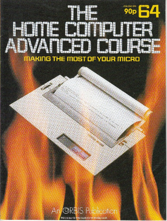 Scan of Document: The Home Computer Advanced Course - Issue 64