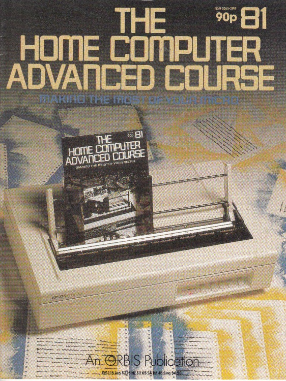 Scan of Document: The Home Computer Advanced Course - Issue 81