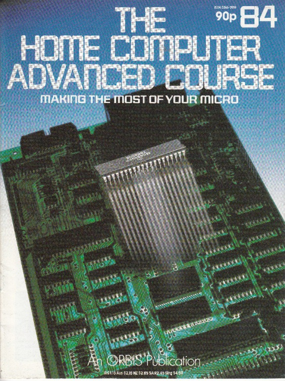 Scan of Document: The Home Computer Advanced Course - Issue 84