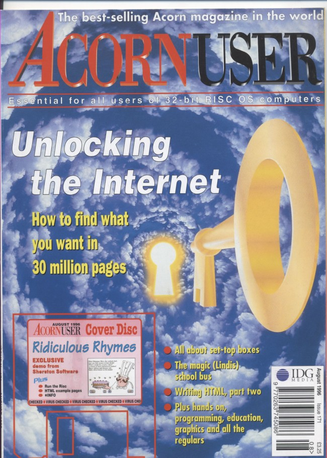 Scan of Document: Acorn User - August 1996