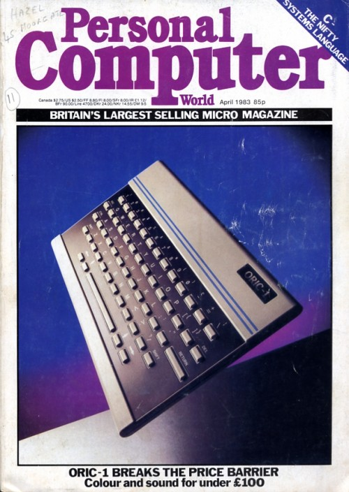 Scan of Document:   Personal Computer World - April 1983