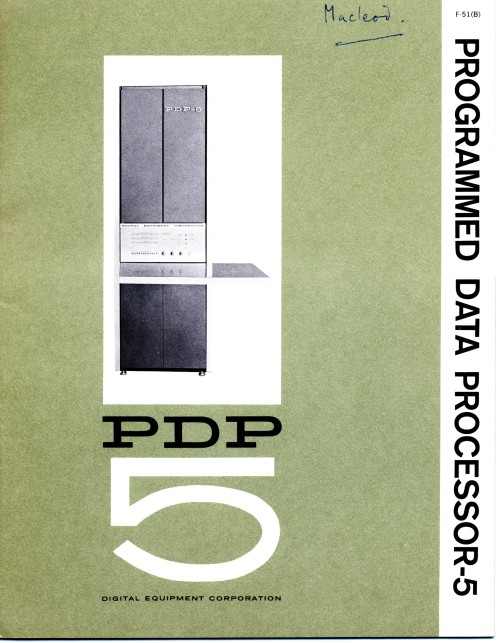 Scan of Document: Digital Equipment Corporation PDP-5 Programmed Data Processor-5 Brochure