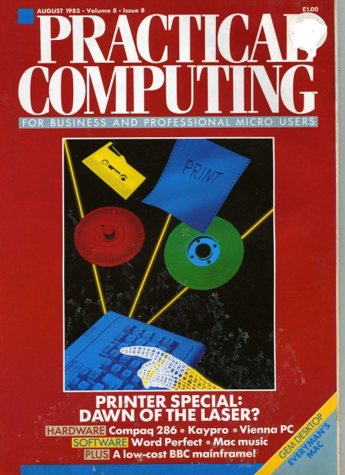 Scan of Document: Practical Computing - August 1985