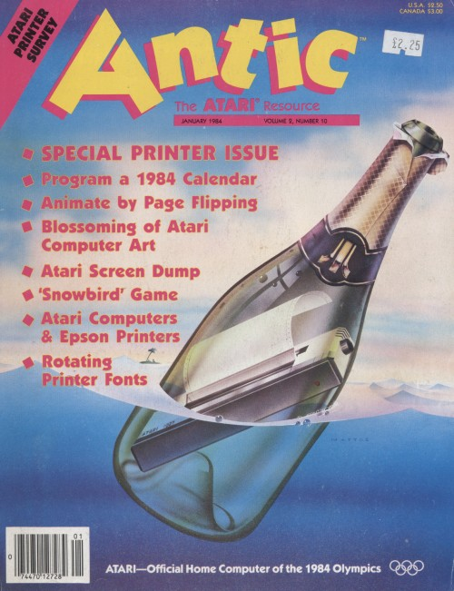 Scan of Document: Antic - The Atari Resource January 1984