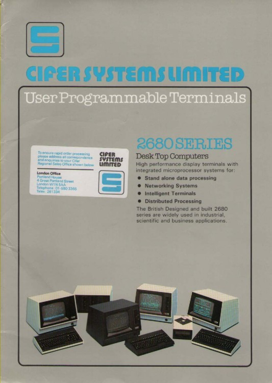 Scan of Document: Cifer Promotional  Folder cover
