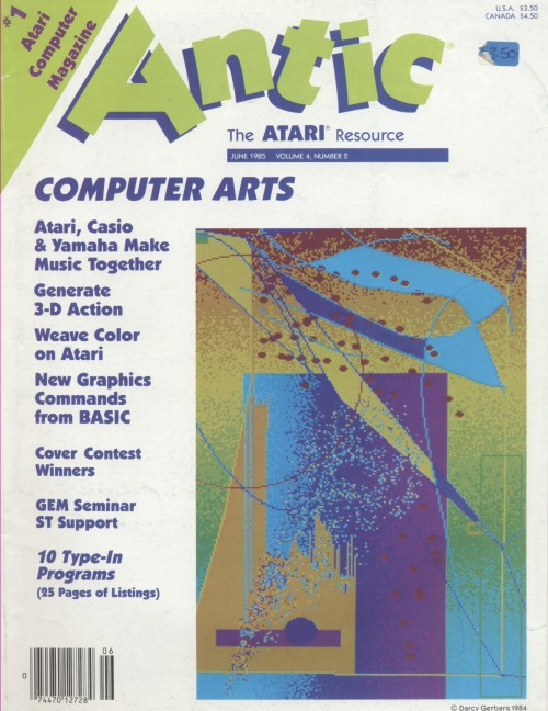 Scan of Document: Antic - The Atari Resource June 1985
