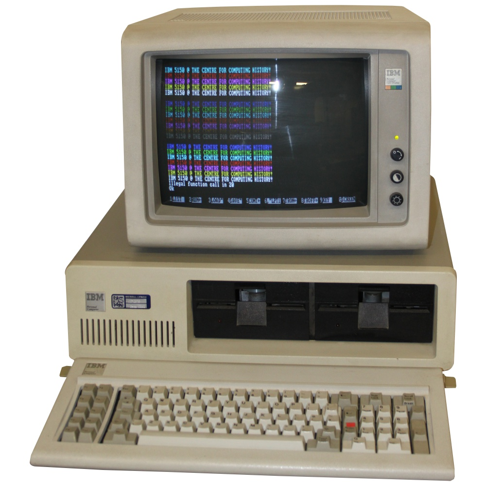 Ibm 5150 with cga monitor computing history for Computadora wikipedia
