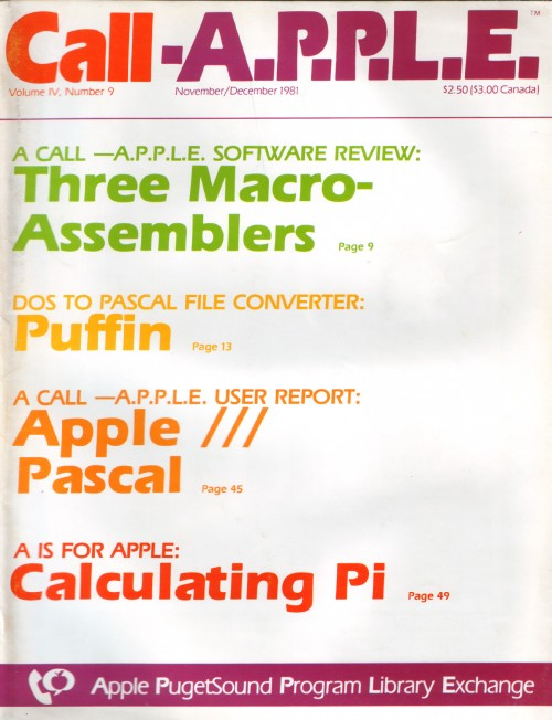 Scan of Document: Call-A.P.P.L.E. - November/December 1981