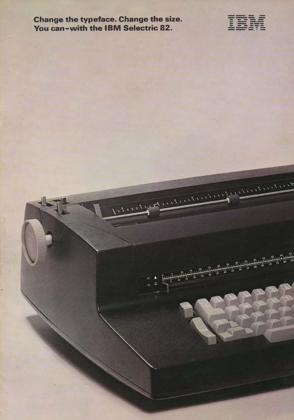 Scan of Document: IBM Selectric 82