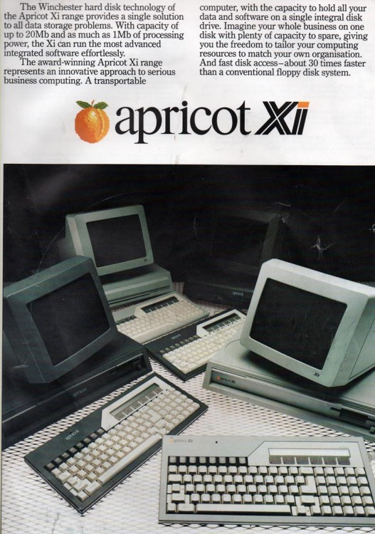Scan of Document: Apricot XI Leaflet