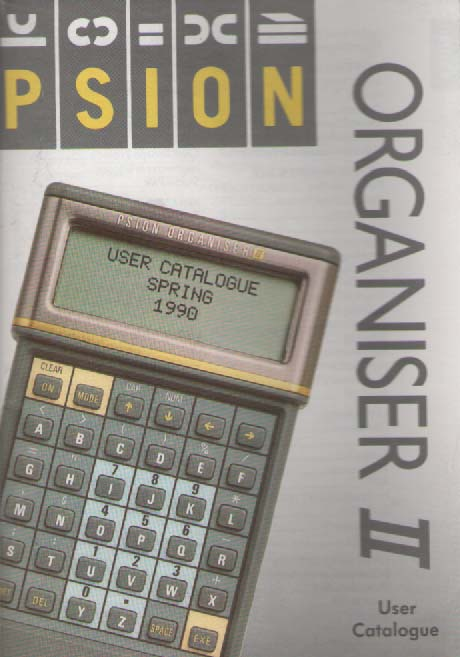 Scan of Document: Psion Organiser II User Catalogue