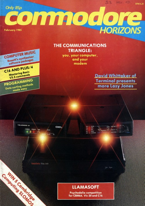 Scan of Document: Commodore Horizons - February 1985