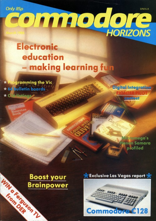 Scan of Document: Commodore Horizons - March 1985
