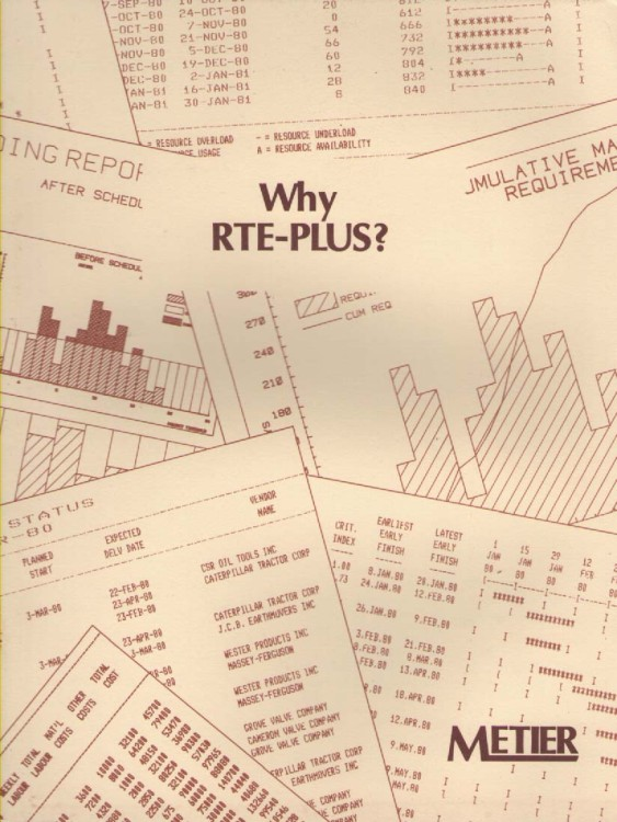 Scan of Document: Why Metier RTE-PLUS?