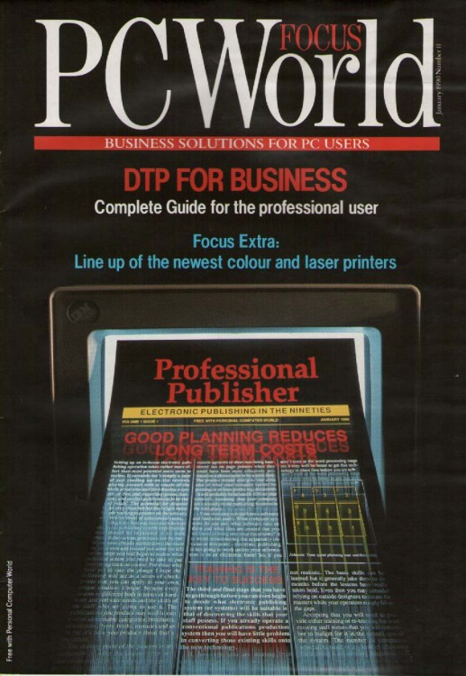 Scan of Document: PCW Focus DTP for Business January 1990