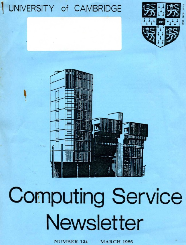 Scan of Document: University of Cambridge Computing Service November/December 1985 Newsletter 122