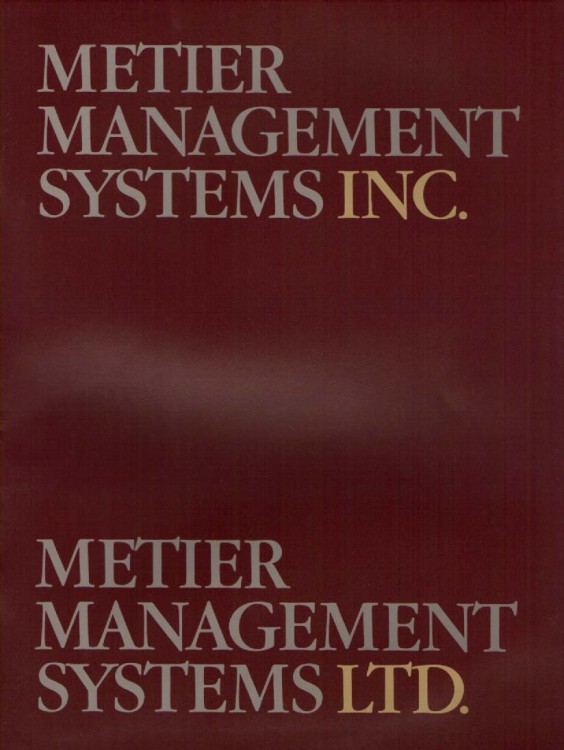 Scan of Document: Metier Management Systems Reprt 1981