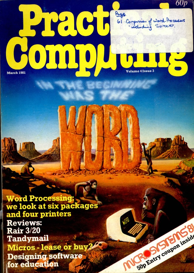 Scan of Document: Practical Computing - March 1981, Volume 4, Issue 3