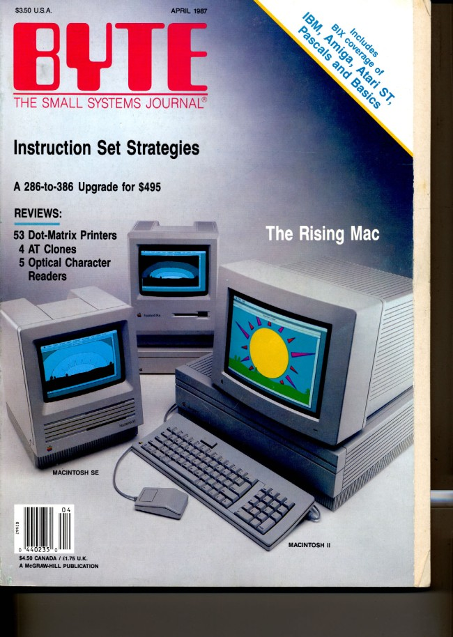 Scan of Document: Byte April 1987
