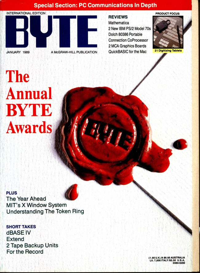 Scan of Document: Byte January 1989