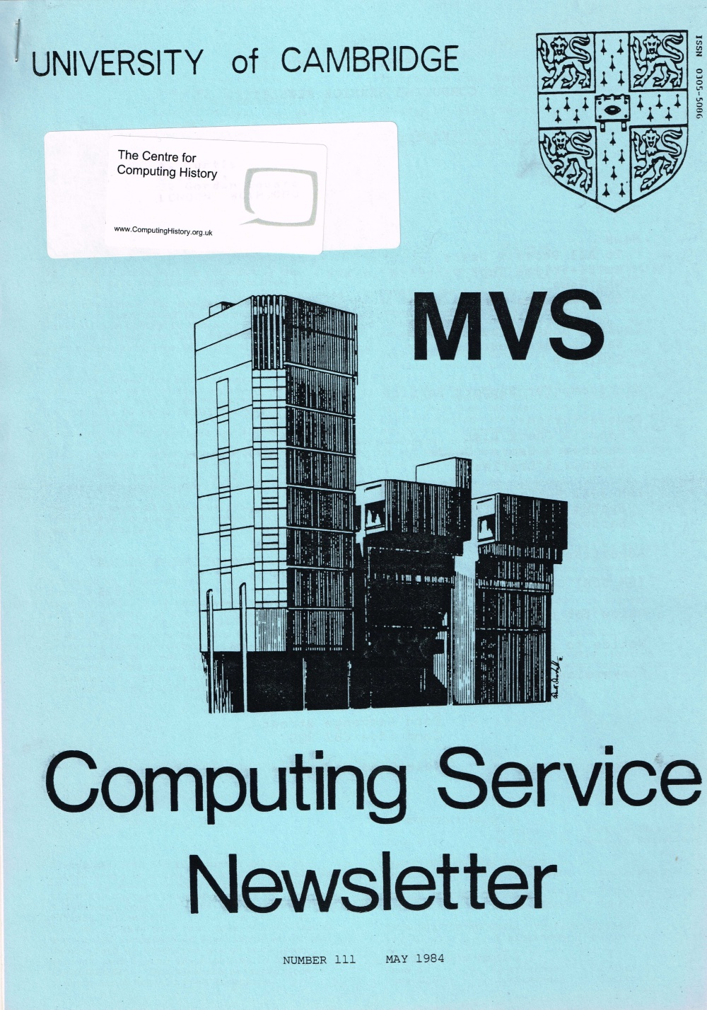Article: University of Cambridge Computing Service May 1984 Newsletter 111