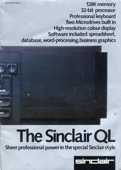 Scan of Document: The Sinclair QL