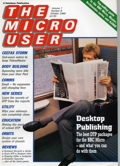 Scan of Document: The Micro User - October 1989 - Vol  7 No 8