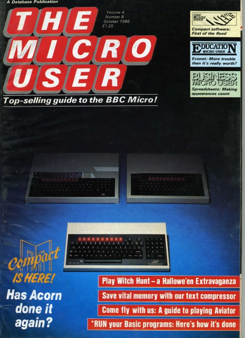 Scan of Document: The Micro User - October 1986 - Vol  4 No 8