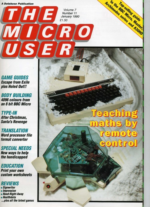 Scan of Document: The Micro User - January 1990 - Vol 7 No 11