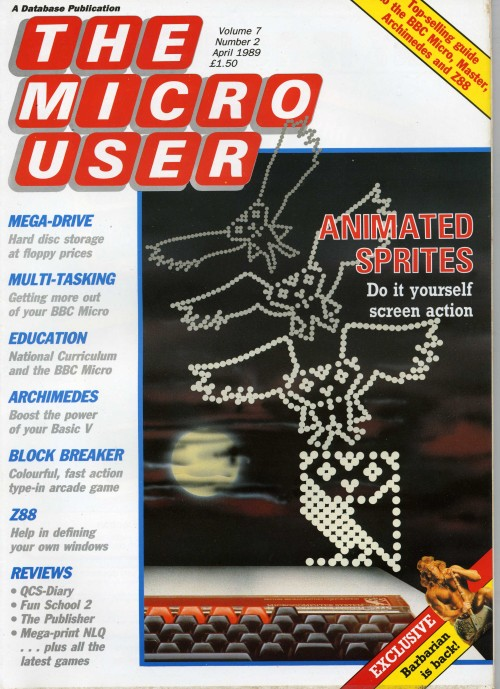 Scan of Document: The Micro User - April 1989 - Vol 7 No 2