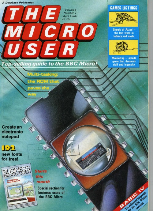 Scan of Document: The Micro User - April 1986 - Vol 4 No 2
