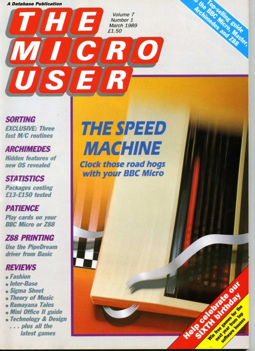 Scan of Document: The Micro User - March 1989 - Vol 7  No 1