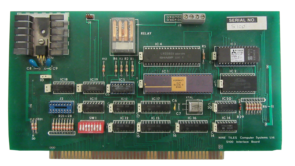 Scan of Document: Nine Tiles S100 Interface Board