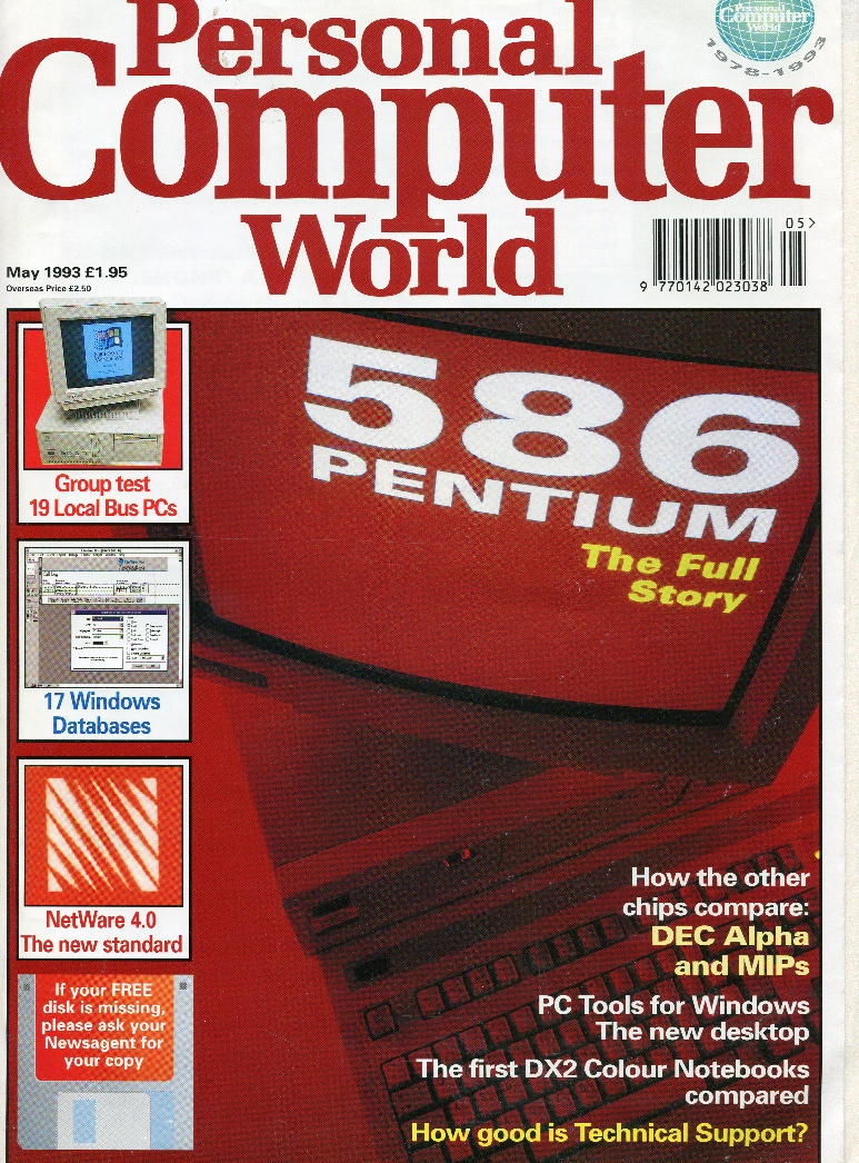 Scan of Document: Personal Computer World - May 1993