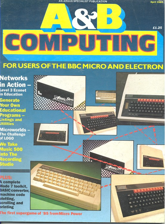 Scan of Document: A&B Computing -  April 1985