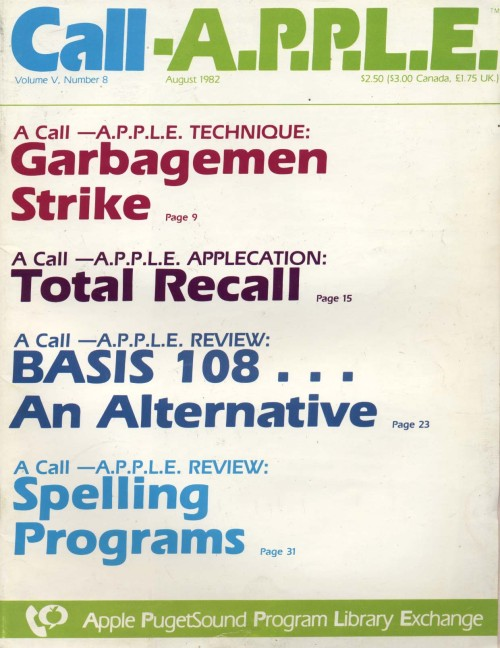 Scan of Document: Call-A.P.P.L.E. - August 1982