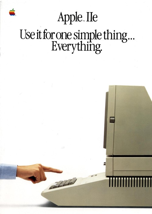 Scan of Document: Apple IIe product leaflet 1985