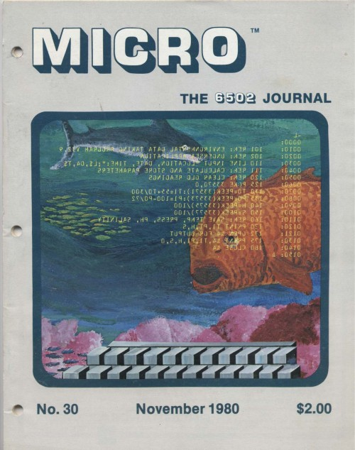 Scan of Document: Micro - The 6502 Journal November 1980