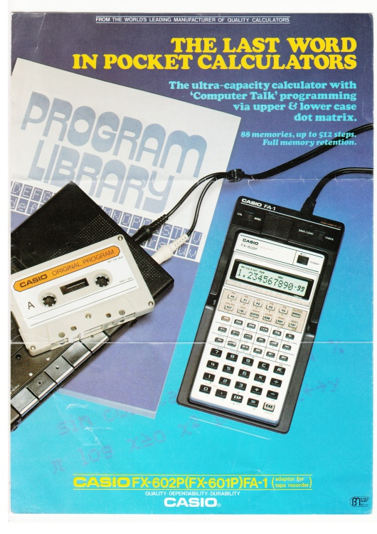 Scan of Document: Casio FX-602P / FX-601P Leaflet