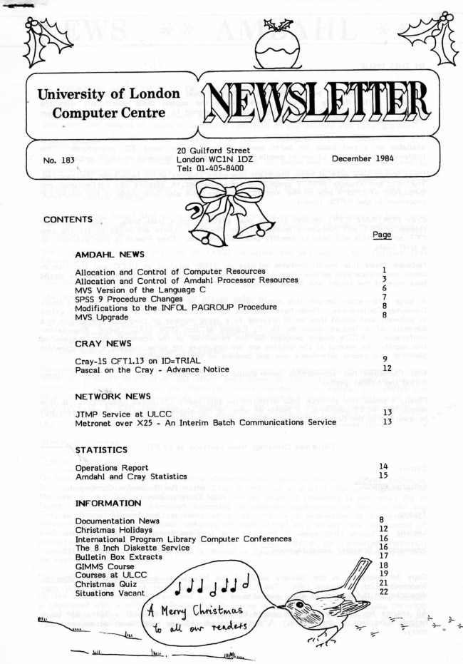 Scan of Document: ULCC News December 1984 Newsletter 183