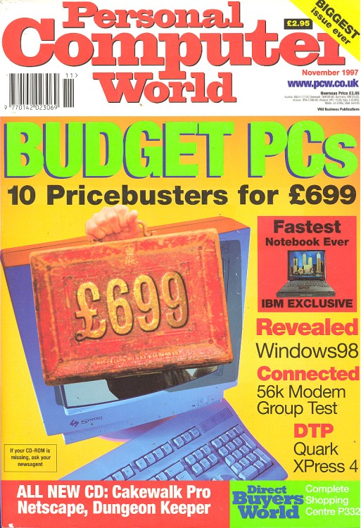 Scan of Document: Personal Computer World - November 1997
