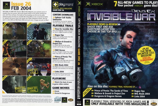 Official Xbox Magazine Game Disc 26 - Computing History