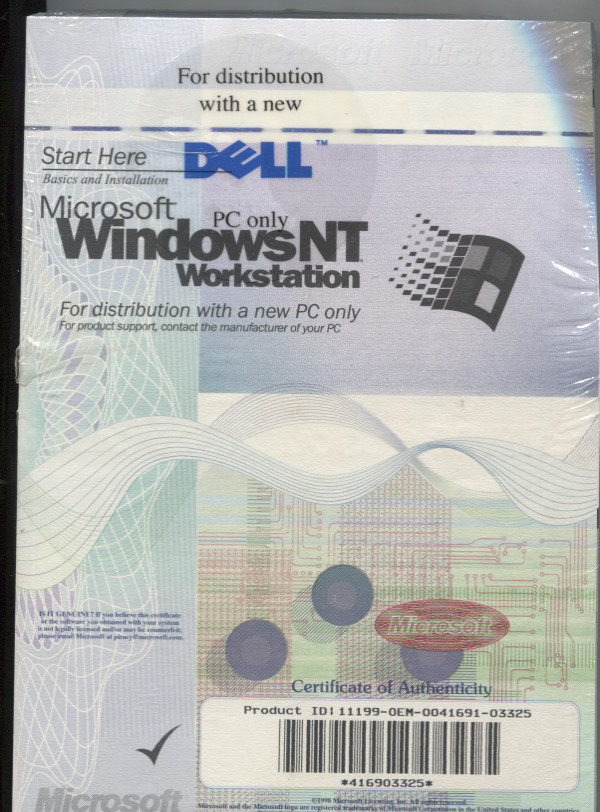 Windows Nt 40 Service Pack 4 Dell Computing History