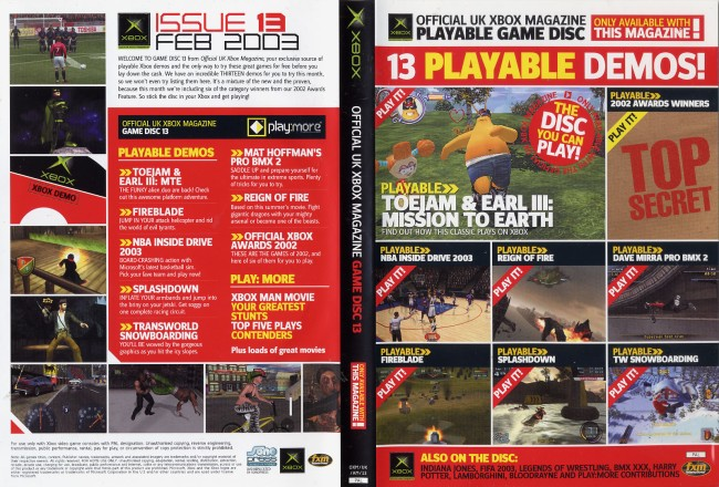 Official Xbox Magazine Game Disc 13