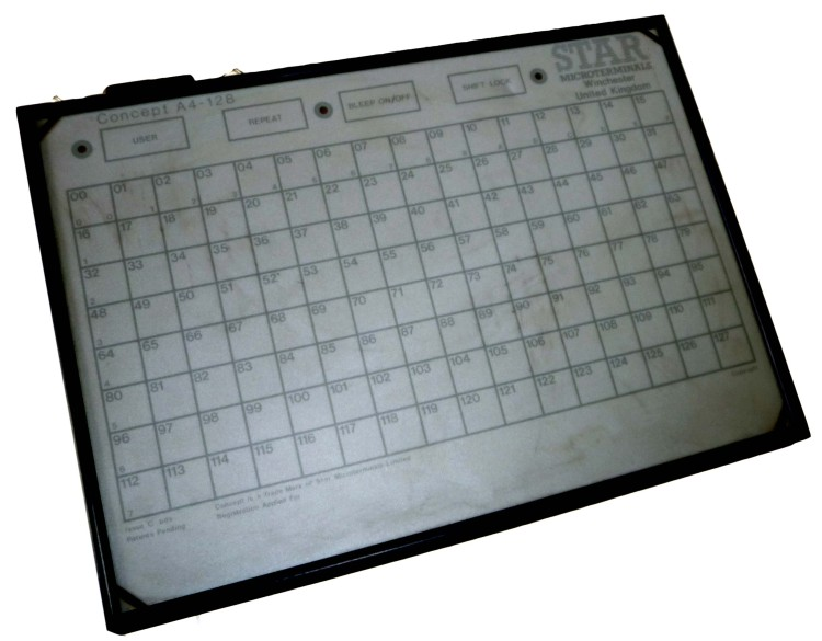 Scan of Document: Star Microterminals Concept A4-128 tablet keyboard