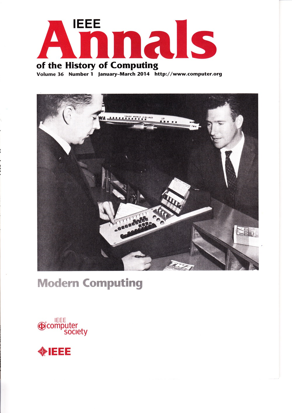 Scan of Document: IEEE Annals of the History of Computing - January-March 2014