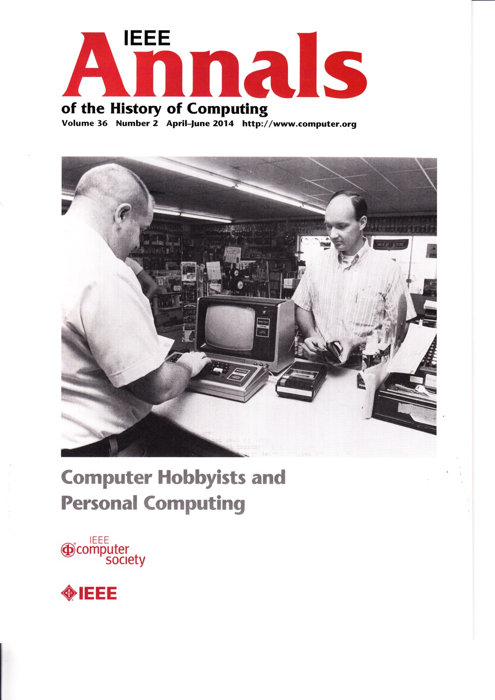 Scan of Document: IEEE Annals of the History of Computing - April-June 2014